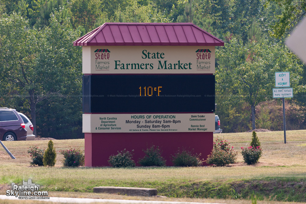Heatwave in Raleigh - 110 Degrees