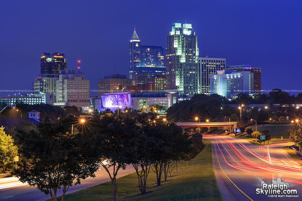 Raleigh Skyline at night