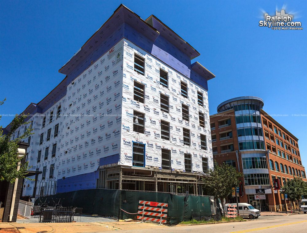 Construction Progress of the Hampton Inn in Glenwood South