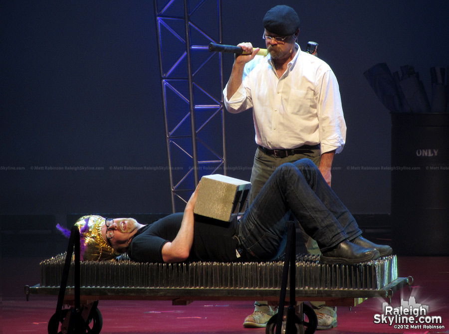 The Mythbusters Jamie Hyneman and Adam Savage perform in Raleigh