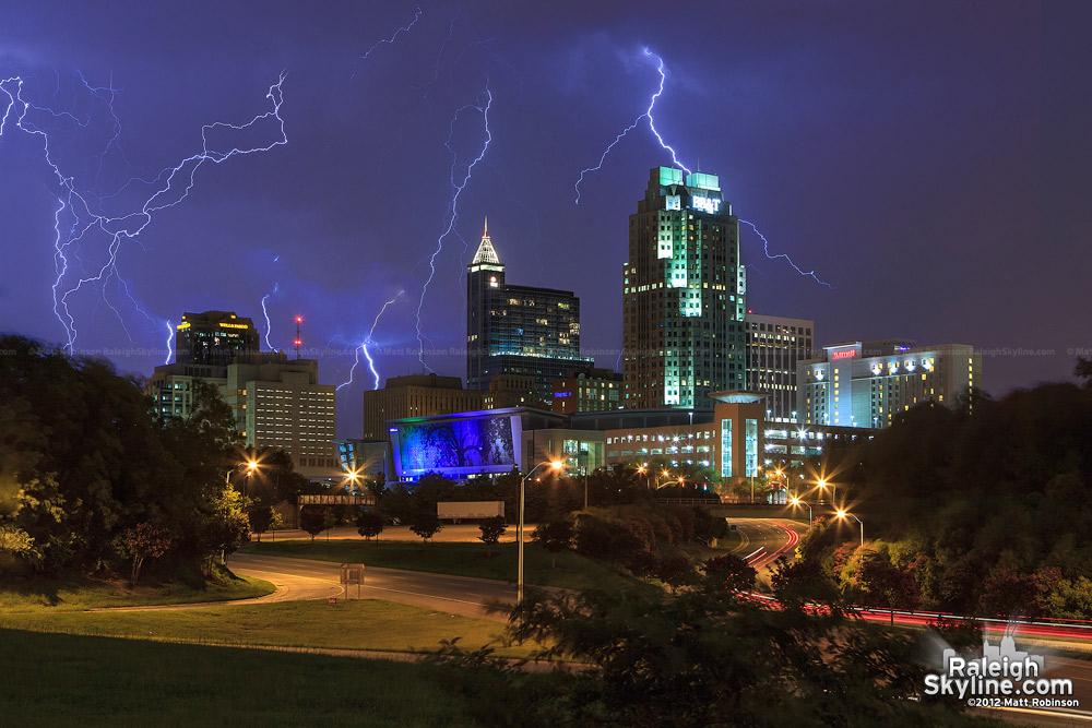 Lightning strikes from July 28, 2012 Storm