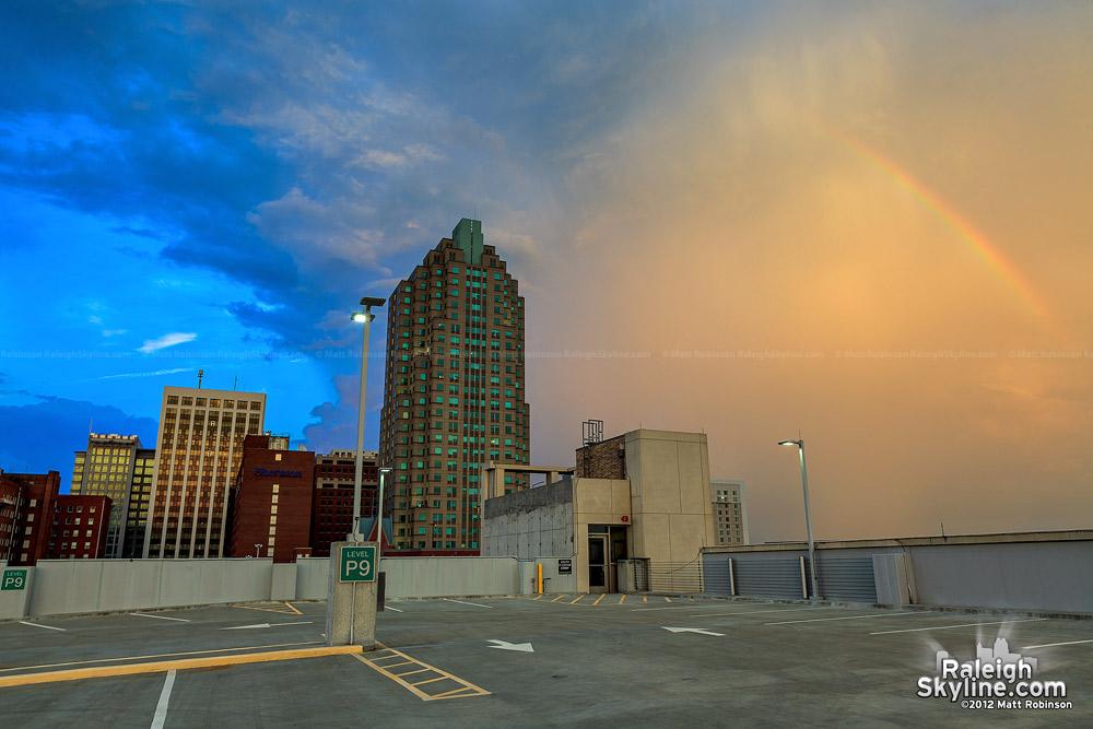 Rainbow from Wake County Parking Garage