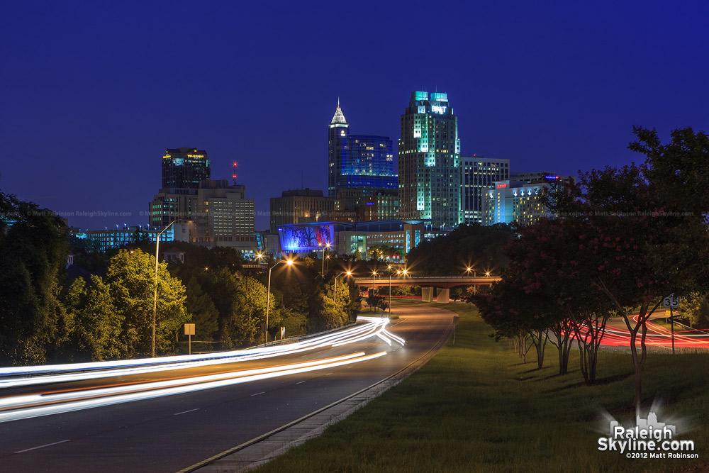 Raleigh Skyline at magic hour