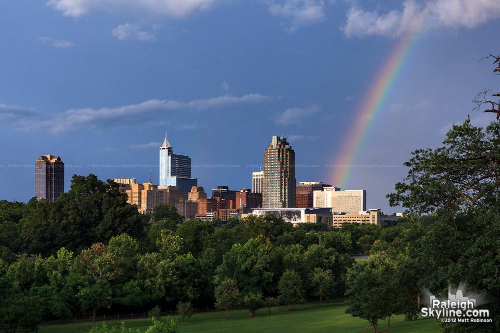 Rainbow and skyline seen from Dorothea Dix