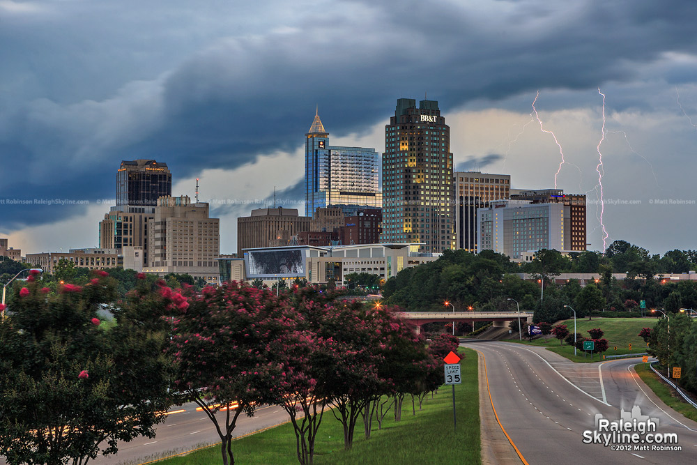 Gust front engulfs downtown skyline