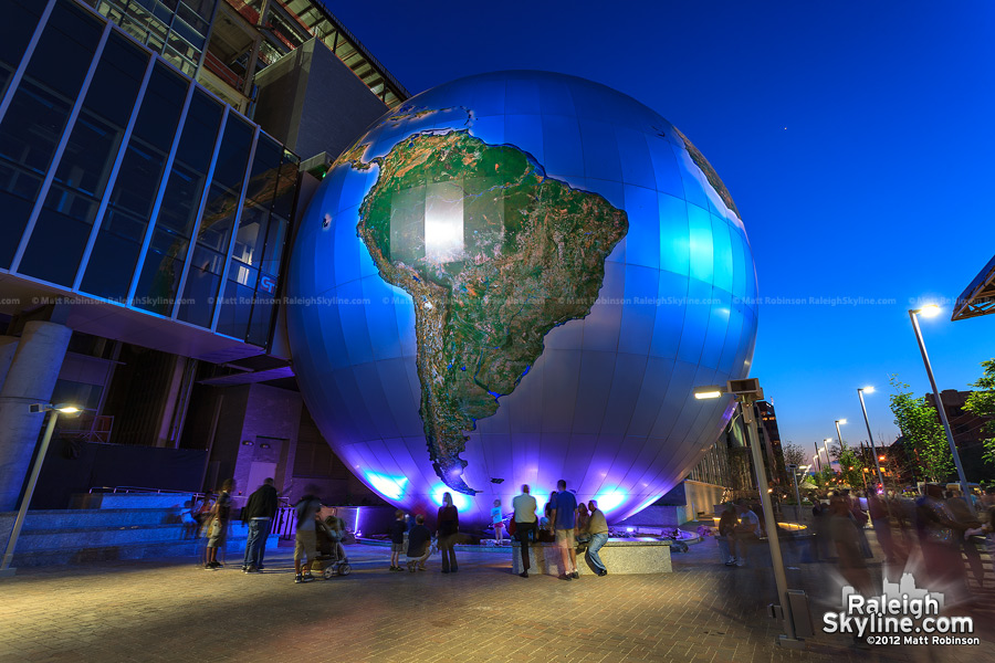 "The Sphere ""Daily Planet"" at the Nature Research Center"