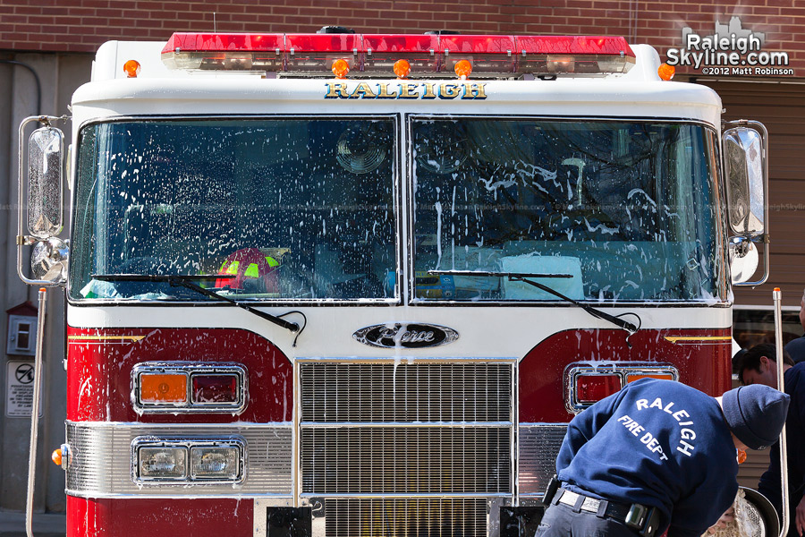 Raleigh Fire Engine 127 gets a wash
