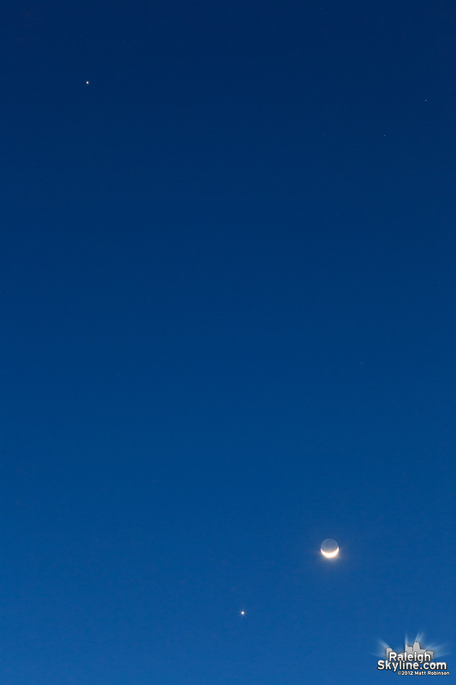 Triangulation of Venus, Jupiter and the Moon