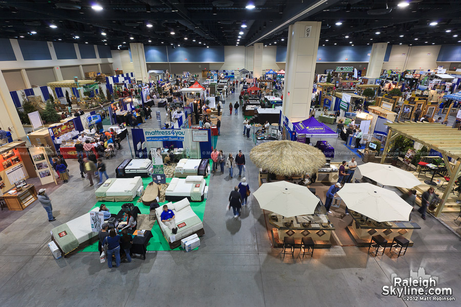 Raleigh Convention Center exhibit hall - Raleigh Home Show