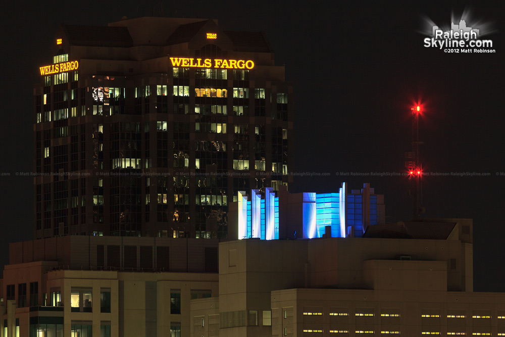 New colors on the Wake County Justice Center