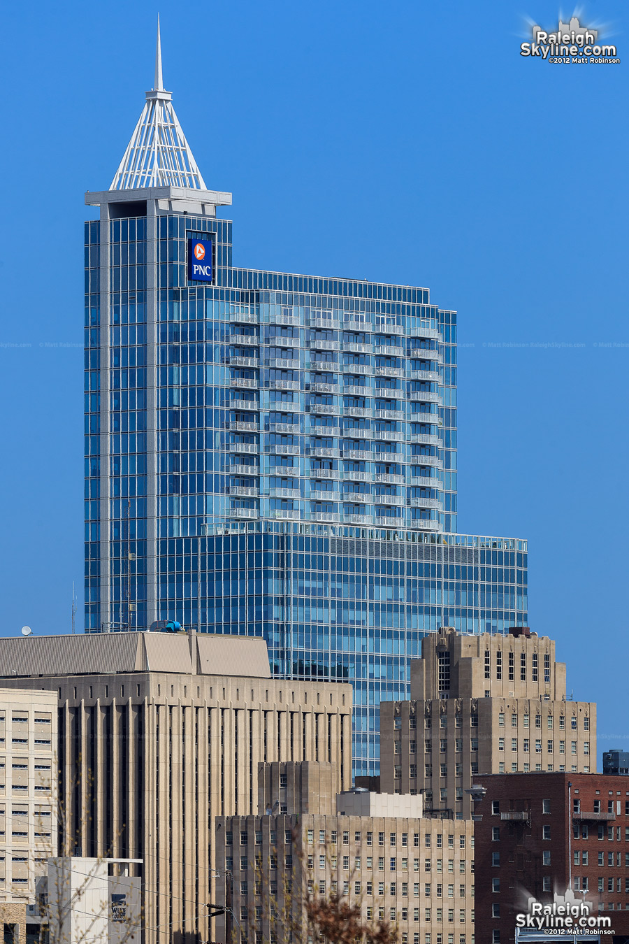 PNC Plaza from Dorothea Dix