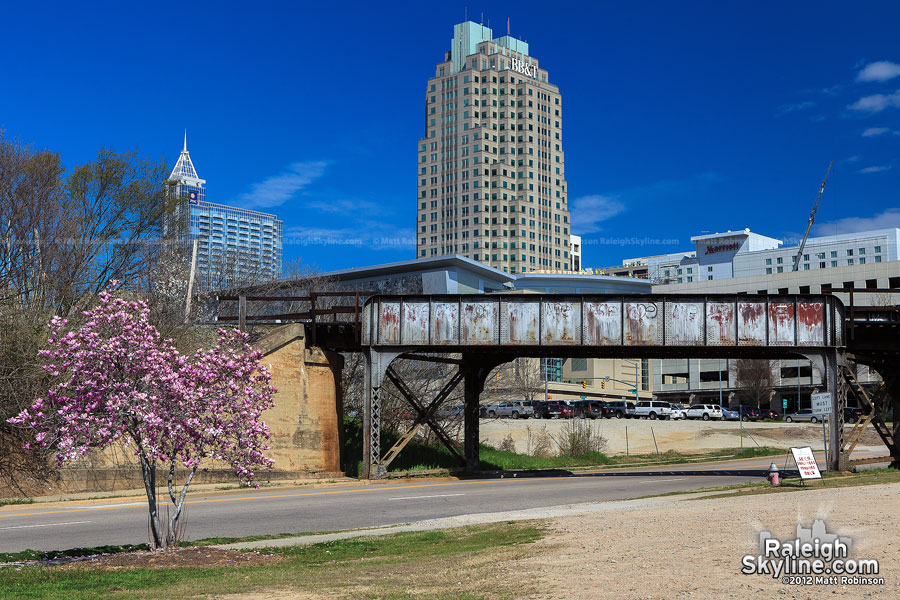 Norfolk Southern Railway bridge and downtown Raleigh