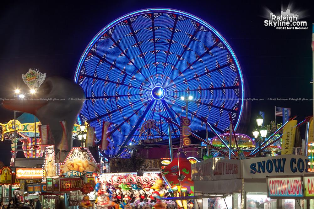 Patterns in North Carolina State Fair Ferris Wheel
