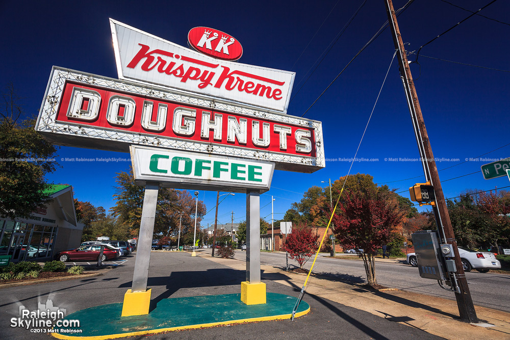Peace Street Krispy Kreme sign