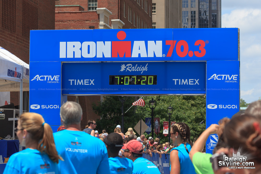 Raleigh Ironman Finish line