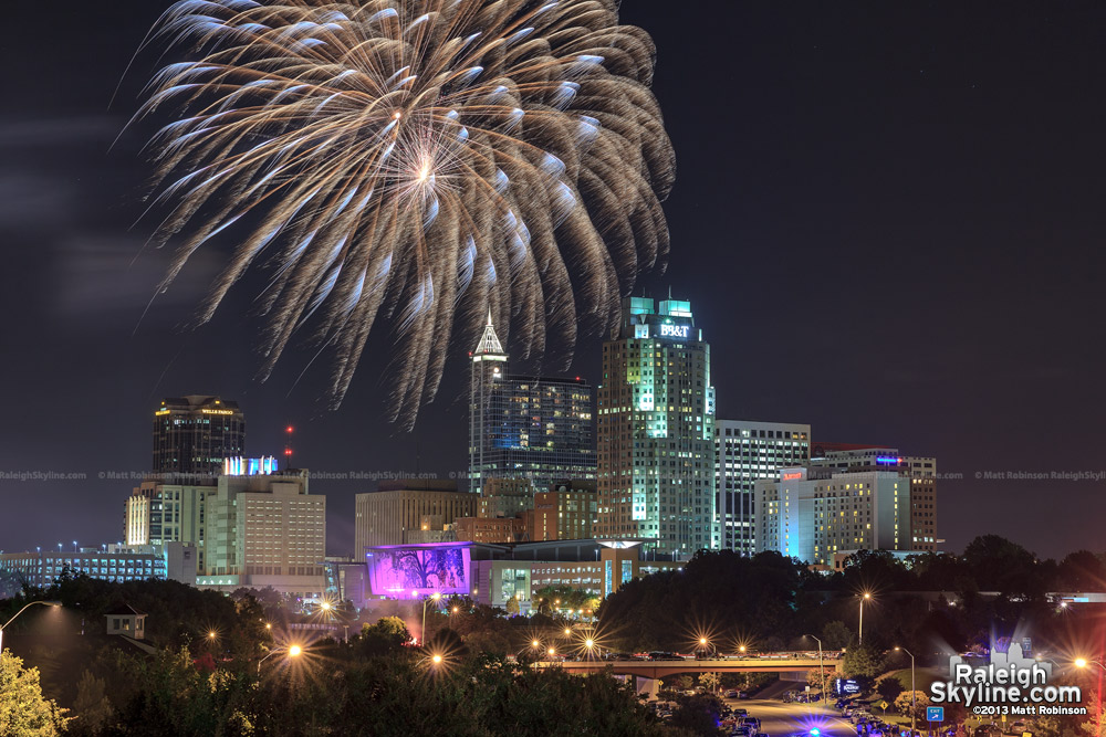 Raleigh July 4th Fireworks