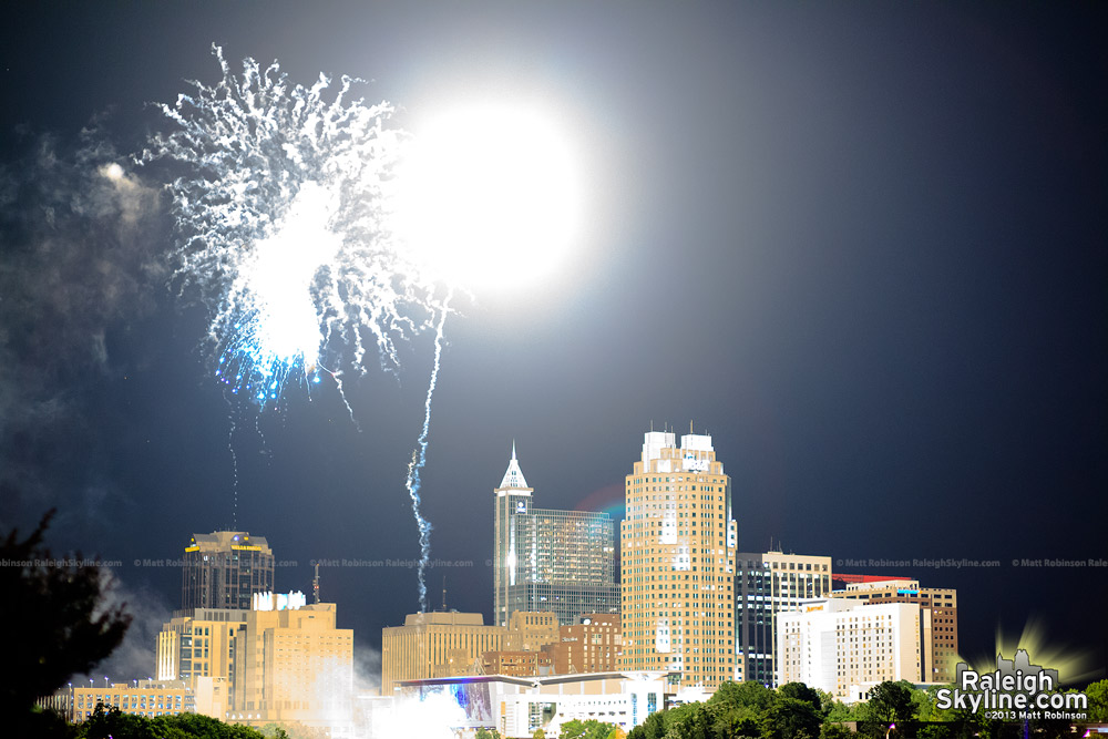 Fireworks turn night to day in Raleigh