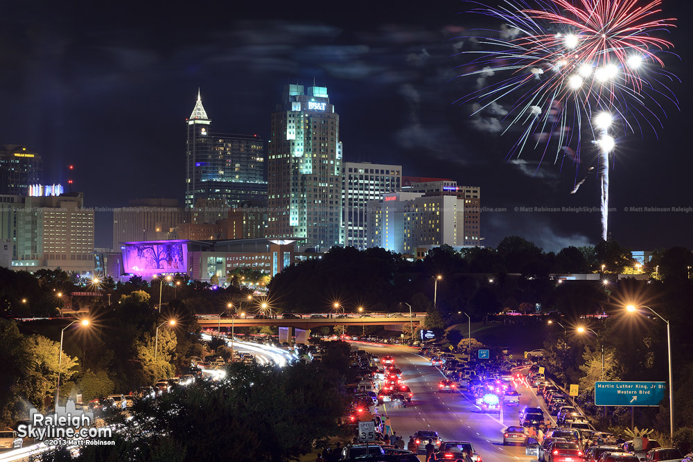 First stage of Raleigh 4th Fireworks