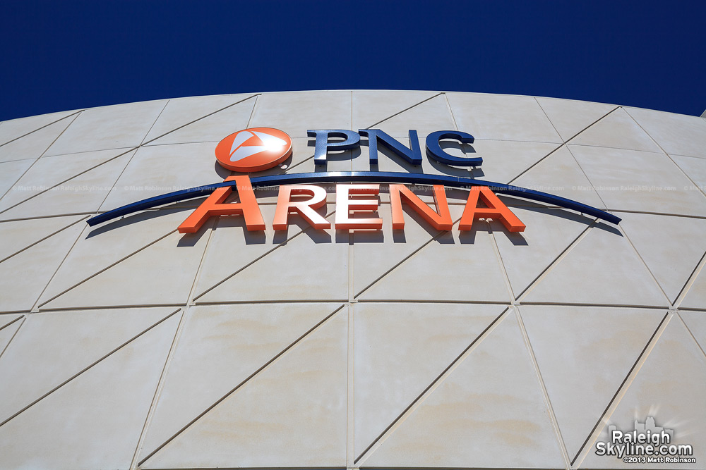 PNC Arena sign