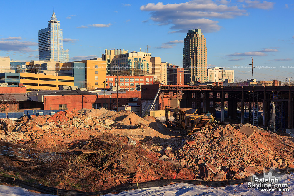 Site work at new location of Citrix office Raleigh