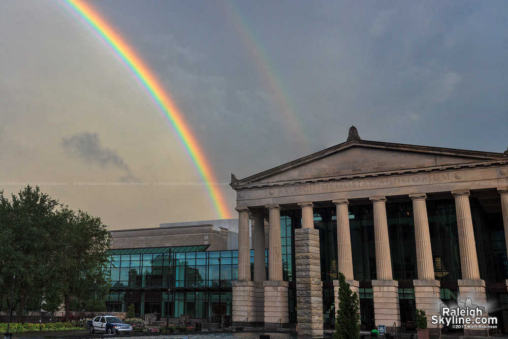 Rainbow over the Raleigh Memorial Auditorium