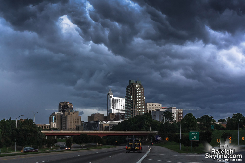 Menacing storm over Raleigh