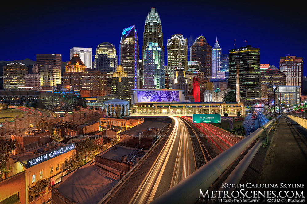 North Carolina Skyline at night by Matt Robinson