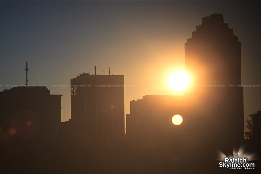 Partial Solar eclipse with the Raleigh Skyline