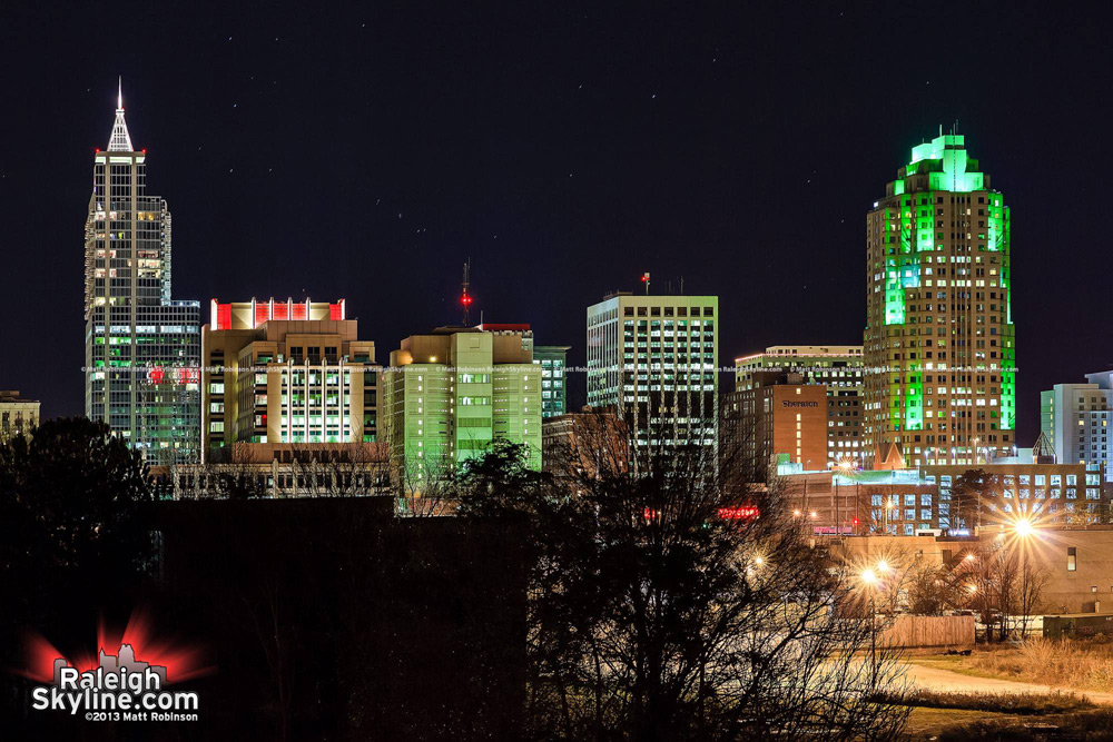 Twas the night before Christmas in Raleigh