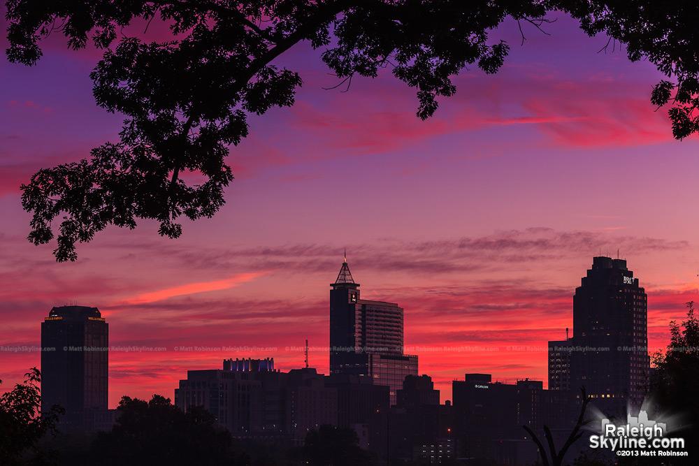 Raleigh Skyline at sunrise