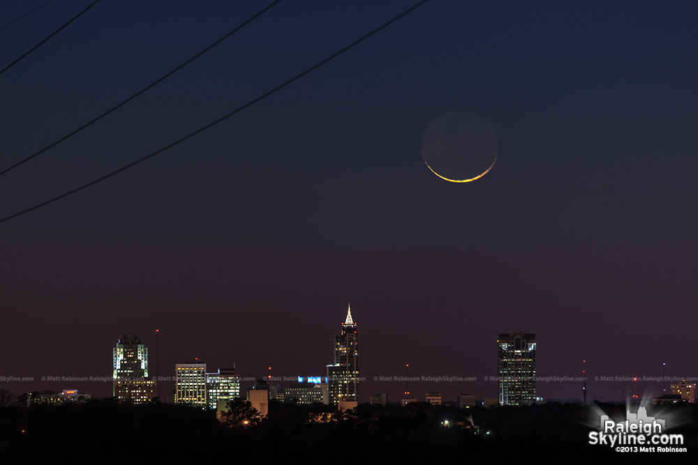 Downtown Raleigh and Crescent Moon