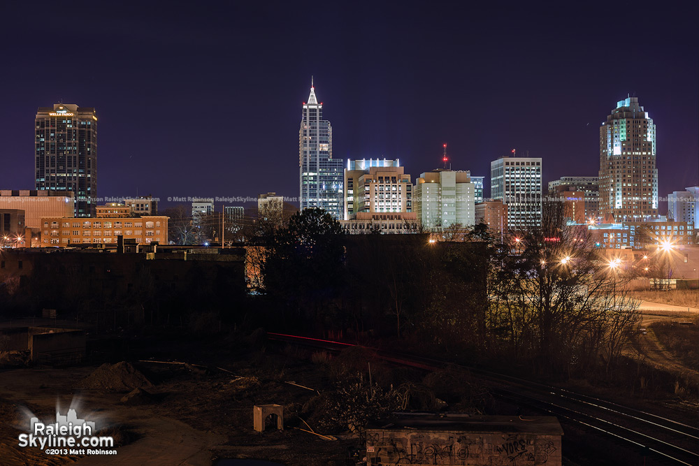 Raleigh at night from Boylan Avenue