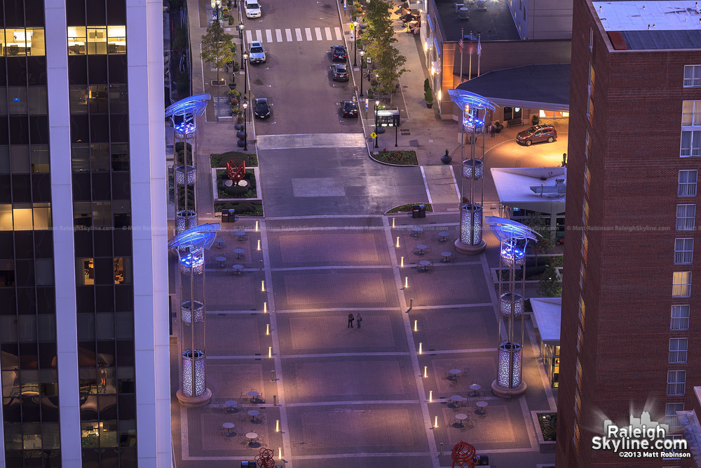 Raleigh's City Plaza from PNC Plaza