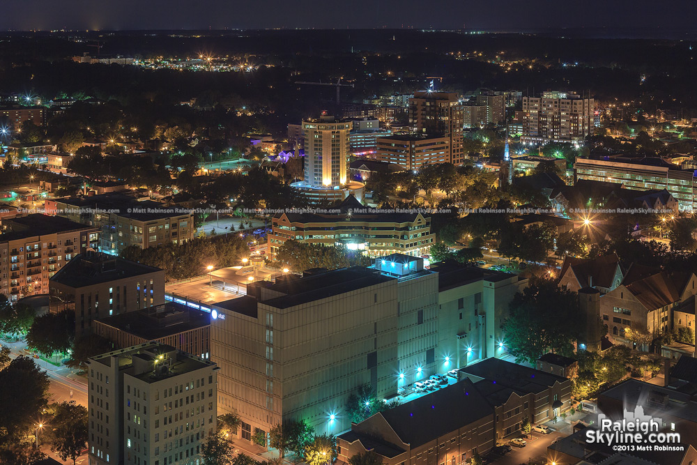 Downtown Raleigh and Glenwood South from PNC Plaza