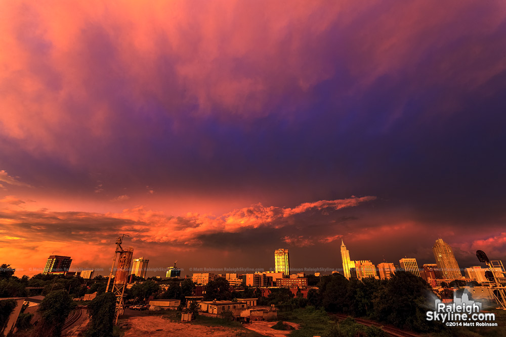 Amazing sunset over Raleigh - August 8, 2012