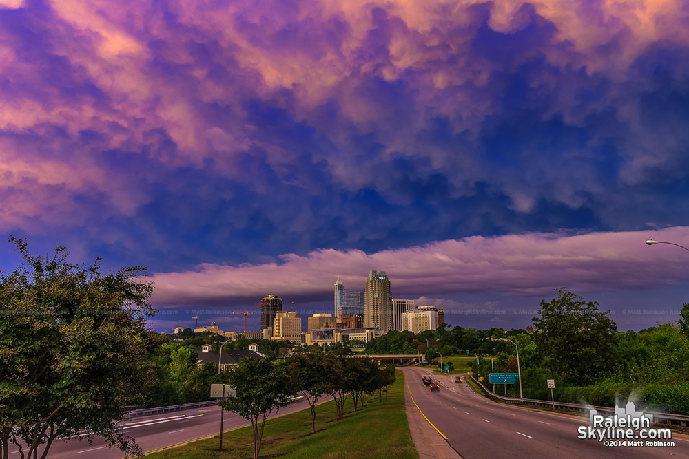 Incredible Sunset over Downtown Raleigh - September 30, 2010