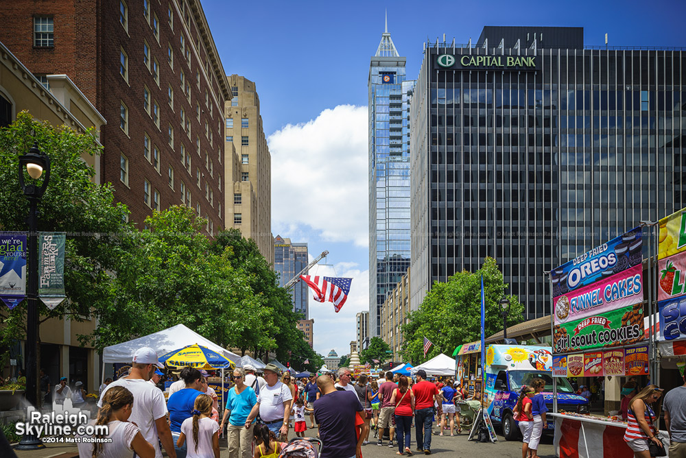 Fayetteville Street festivities on July 4, 2014
