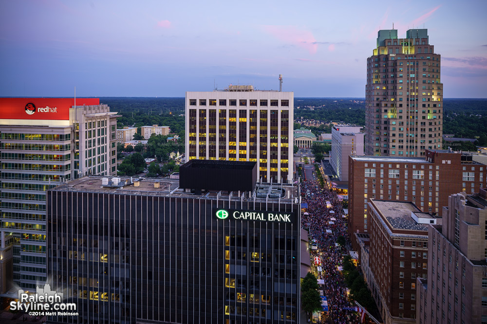 Southern Downtown Raleigh from above