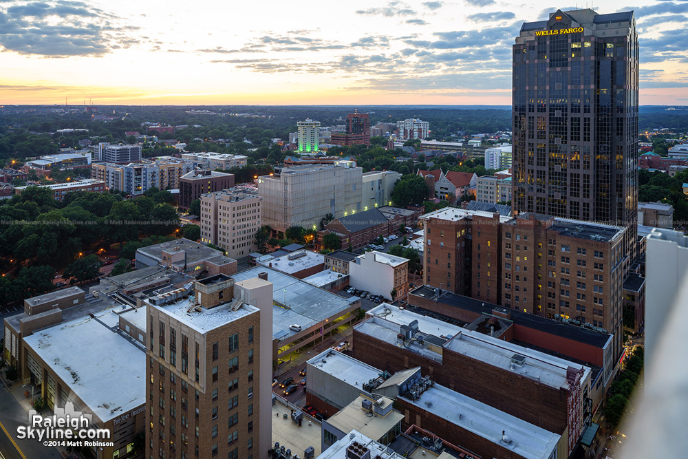 Western Downtown Raleigh from PNC Plaza