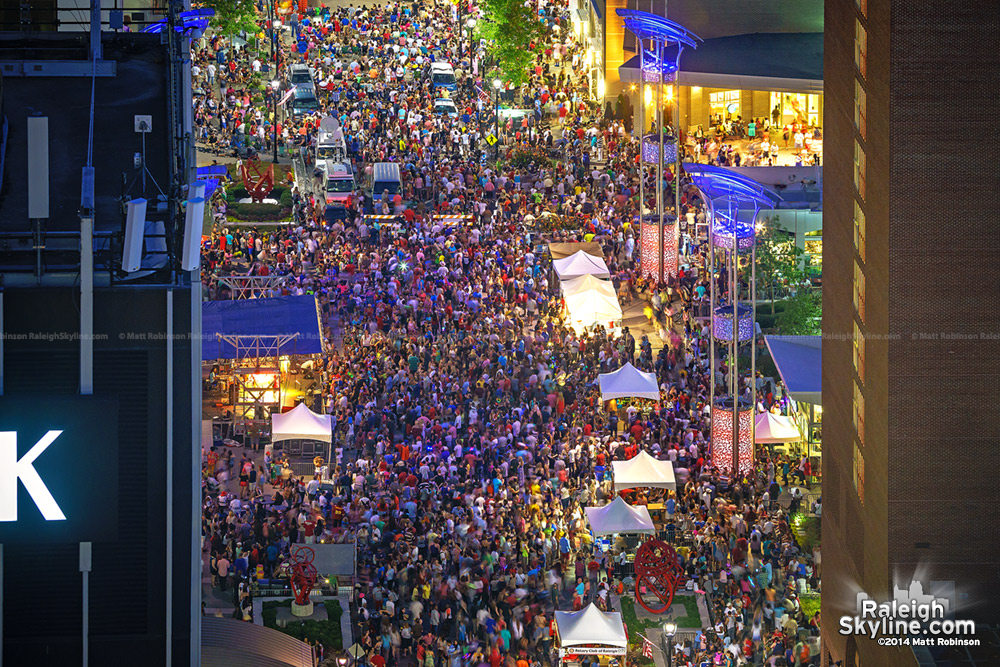 Crowds gather to watch Fourth of July Fireworks in downtown Raleigh