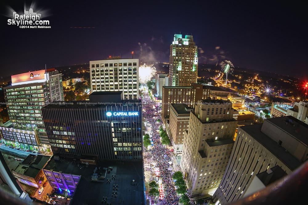 Fisheye of July 4, 2014 Fireworks show