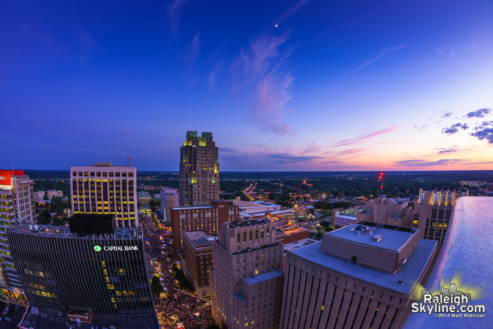 Raleigh Sunset before the show