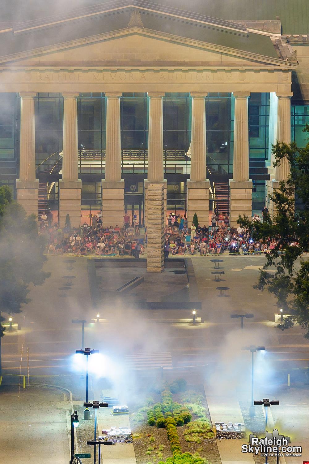 Raleigh Memorial Auditorium spectators