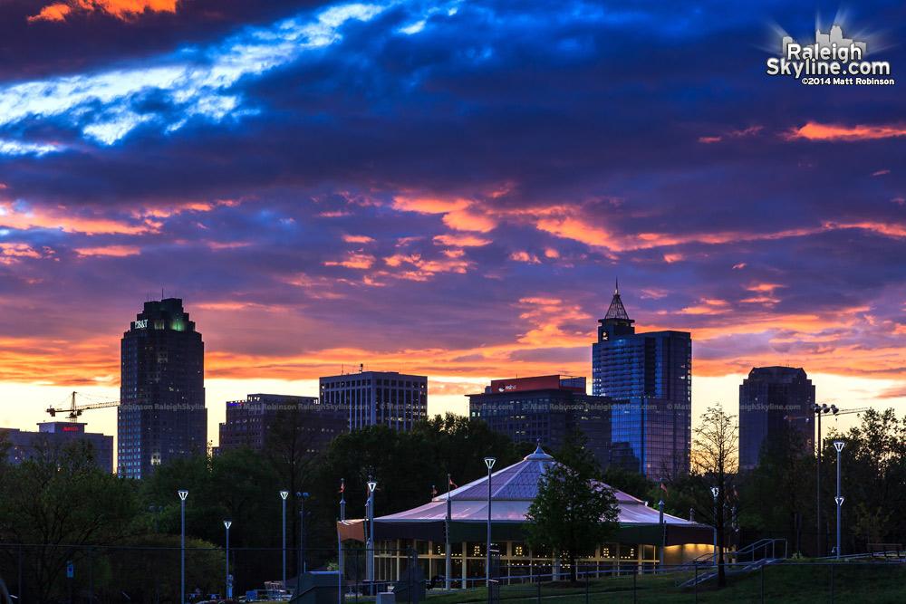 Raleigh Sunset from Chavis Park