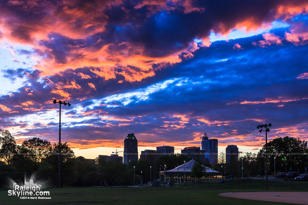 Wide Raleigh Sunset from Chavis Park