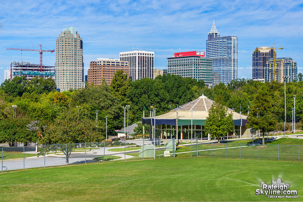 Raleigh Skyline from Chavis Park, October 2014