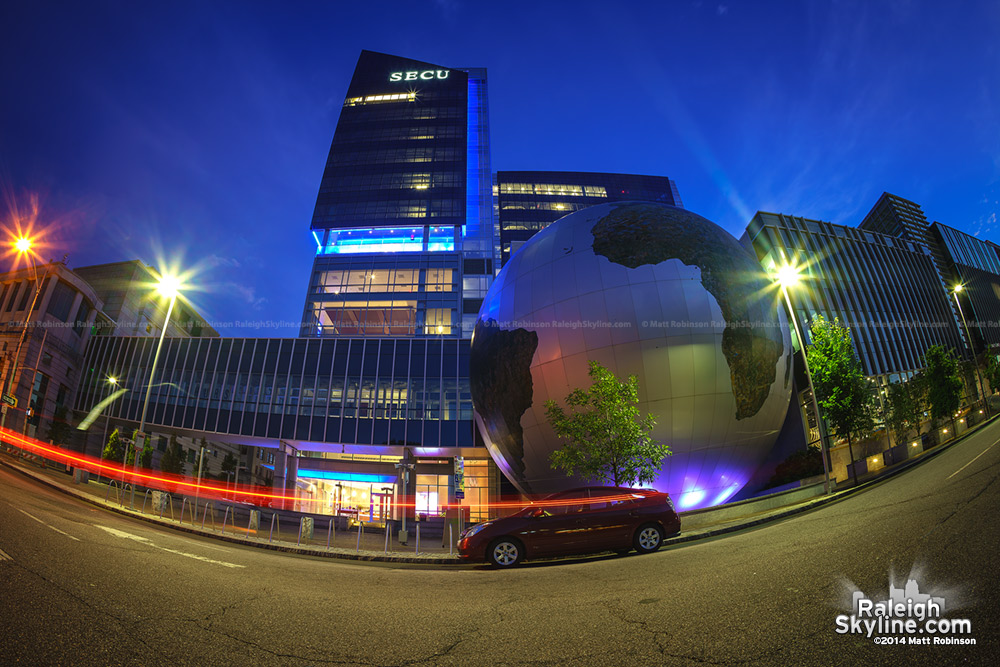SECU and NC Museum of Natural Sciences with the Daily Planet Globe