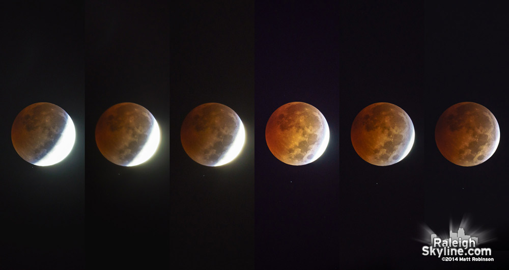 Lunar eclipse of October 8, 2014 from Raleigh