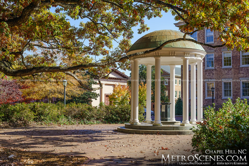 Chapel Hill Old Well in the Fall