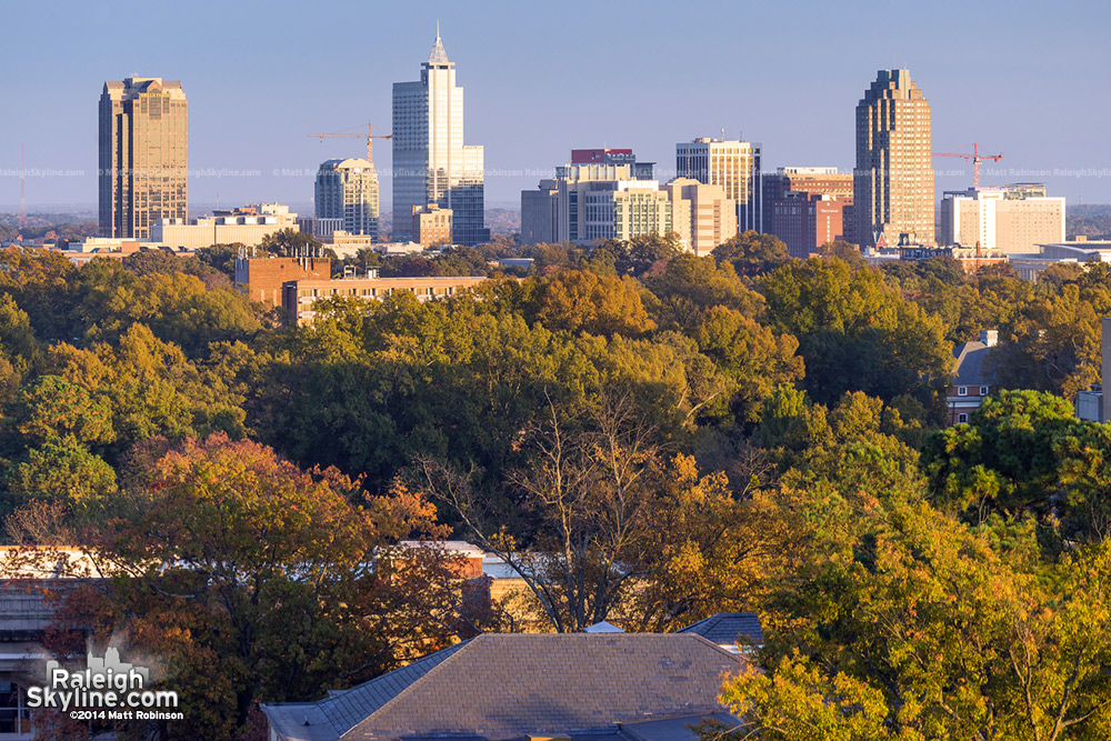 Raleigh Skyline from DH Hill in Autumn